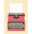 Retro typewriter background vector image