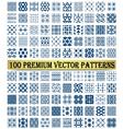 100 Premium Patterns vector image