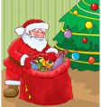 santa with gifts vector image