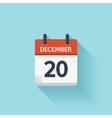 December 20 flat daily calendar icon vector image