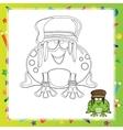 Cartoon frog vector image