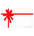 A New Year Card with Red Ribbon vector image