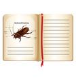 Cockroach anatomy on a book vector image