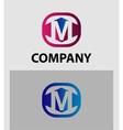 Letter M logo symbol icon vector image