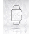 Line style smart watch isolated vector image