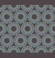 mandala geometric on gray background vector image