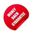 Money back stickerSet of red round stickers vector image