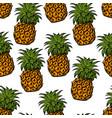 pineapple seamless pattern vector image