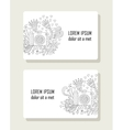 Set of cards with hand drawn floral elements and vector image