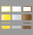 set of rectangular salve vector image