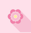 six petals red flower icon use for logo vector image