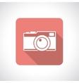 Vintage camera icon vector image