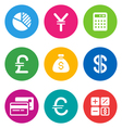 color finance icons vector image vector image