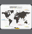 world map infrographic with color magnets vector image
