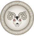 Head of the ram Zodiac signs aries Eyes - red vector image