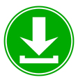 Arrow download button vector image