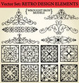 retro design elements vector image