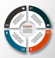 modern business options banner circle infographics vector image