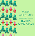 Christmas card Calligraphic typography vector image