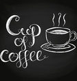 Cup Of Coffee Chalk Lettering vector image