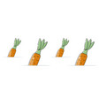 carrot background cartoon style vector image