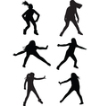dance street vector image