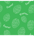 Green seamless pattern with easter eggs vector image