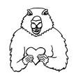 groundhog day hand drawn vector image