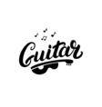 Guitar hand written lettering logo emblem label vector image
