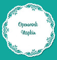 openwork vintage ornament blue background vector image