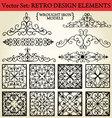 retro design elements vector image