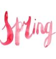 Watercolor Spring Calligraphy Script vector image