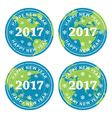 happy new year 2017 rubber stamps vector image