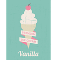 Vanilla Ice Cream Poster vector image