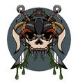 Skull demon hardcore vector image