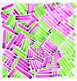 Watercolor stripes Pink and green colors Easy for vector image
