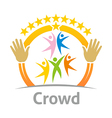crowd community celebration children design vector image