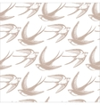 Seamless pattern with Swallows in the clouds vector image