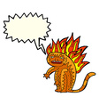 tiger tiger burning bright with speech bubble vector image