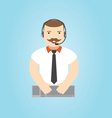 Call center operator 24h all the time customer sup vector image