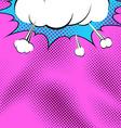 Bright comic book pop art explosion background vector image