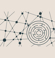 circular maze black on a white background vector image