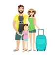 Family Travel with Children vector image