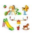 icon set of children playground vector image