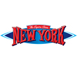 New York The Empire State vector image
