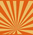 old paper comic book orange background vector image