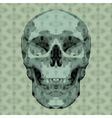 mosaic skull vector image