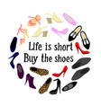 shoes frame vector image