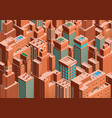 cityscape of new york isometric perspective vector image