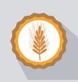nice emblem of wheat branch design vector image